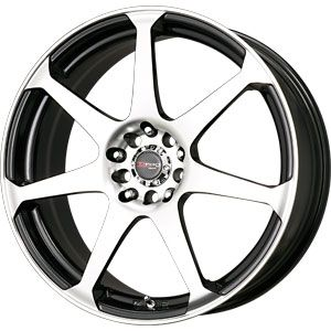 New 17X7.5 5 100/5 114.3 Dr33 Gloss Black Machined Face Wheels/Rims