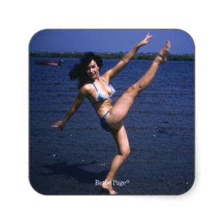 Bettie Page Kicking Her Legs Up High Vintage Pinup Stickers