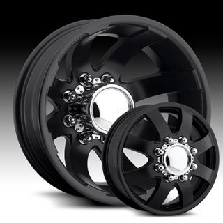 17 x6 5 Eagle 0978 0988 Black Wheels Rims 8 Lug Dually