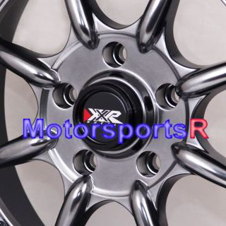 16 16x8 XXR 002 Chromium Black Rims Deep Dish 5x4 5