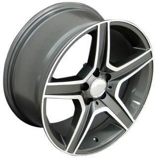 19 8.5/9.5 Gunmetal AMG Wheels Set of 4 Rims Fit Mercedes C E S Class