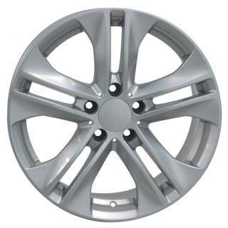 17 Rim Fits Mercedes Replica Wheels Silver 17x8 Set