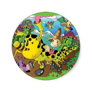 Cartoon character   Fairys village Stickers