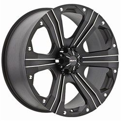 15 inch Ballistic Outlaw Black Wheels Rims 6 Lug Chevy