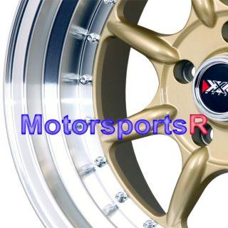 Gold Rims Deep Dish Wheels 5x114 3 Stance 5 Lugs 11 Mazda Miata