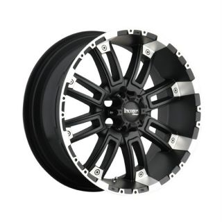18 inch 18x9 Incubus Crusher Black Wheels Rims 6x135