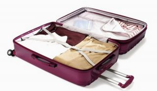 Samsonite 28 Rolling Upright Suitcase Hard Shell Case Spinner Wheels