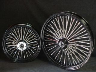 25 DNA Mammoth 52 Spoke Fat Daddy Black Wheels 4 Harley Touring