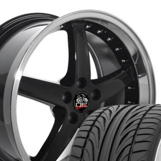 20 8 5 10 Black Cobra Wheels Falken ZR Tires Rims Fit Mustang® GT 94