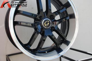 LINE G817 WHEEL 5X100 +38 BLACK MACHINE RIM FITS CELICA COROLLA MATRIX
