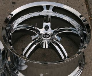 ST5 19 Chrome Rims Wheels Mustang Staggered 19 x 8 5 9 5 5H 38