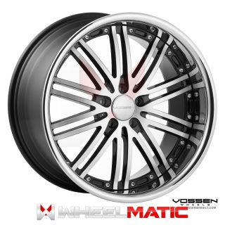 19 Vossen 82 19x8 5 10 5x120 30 36 Black Machined Wheels Rims