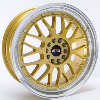 Str Wheels 17 Gold Rims 4 Lug 4x100 4x114 3 Honda Nissan Toyota Scion