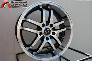 Line G817 Wheel 5x108 38 Black Blue Rim Fits Volvo S40 V40 S60