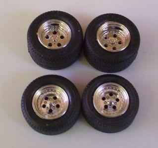 Goodyear Tires 4 Mag Wheels AMT 1 25 Model Car Parts 43