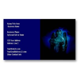 Angelic Statue Guardian Angel Business Cards