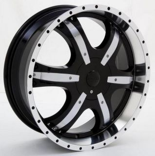 22inch Rims and Tires Wheels Car Truck Star Black 112