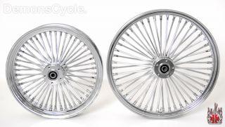 Chrome 21 18 Wheels Fat Mammoth 48 Spokes Fit Harley Fatboy Softail