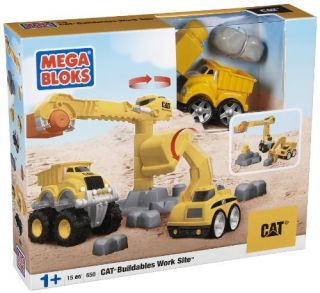 Mega Bloks Cat Tiny N Tuff Buildables Work Site