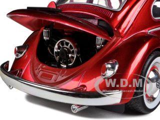 1959 Volkswagen Beetle with Baby Moon Wheels Metallic Red 1 24 by Jada