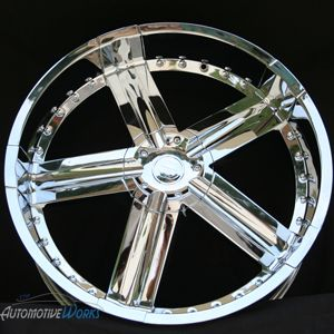 Edge Hype 6x127 6x5 6x135 30mm Chrome Wheels Rims inch 24