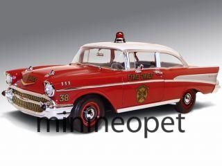 Highway 61 50902 1957 Chevy Bel Air Sedan 1 18 Fire Chief Department