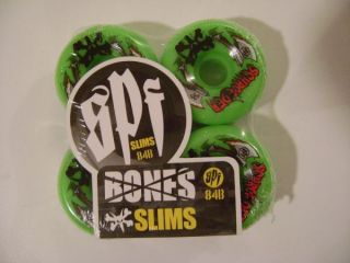 Bones SPF Ben Schroeder Axe Skateboard Wheels 58mm Grn