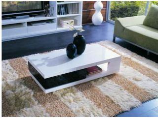 Contemporary 5010C Black and White Modern Coffee Table