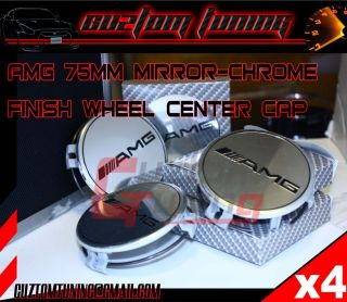 Mercedez Benz E C s Class Chrome Wheel Center Caps 4pcs Mirror AMG