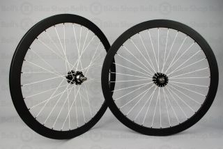 Plus Son Track Wheels Black White Radial Deep V