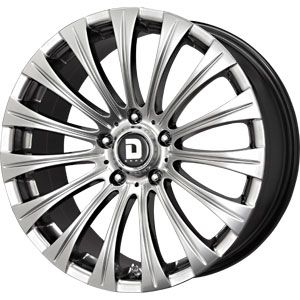 New 18x8 5 5x120 Drag Dr 43 Black Wheels Rims
