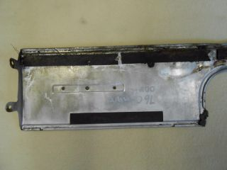74 77 Camaro Type Lt Stainless Rear Panel Trim with Emblem Used