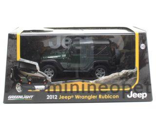 85023 2012 12 Jeep Wrangler Rubicon 1 43 Diecast Green
