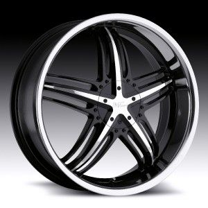 18 in Milanni Force Black Wheels Rim 5x4 75 5x120 6 38