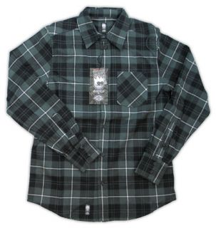 Spitfire Wheels Dickies OG Long Sleeve Flannel Shirt Size Medium