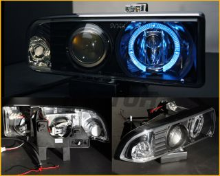 98 04 Chevy S10 Blazer Blk Halo Projector Headlights 01