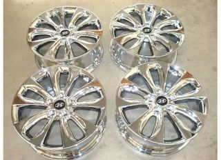 18 Hyundai Sonata Chrome Alloy Wheels Rims SE 11 12 Set