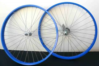 Cruiser Bike 26x2.125 Rear & Front Wheels Rims w coaster Brake Blue