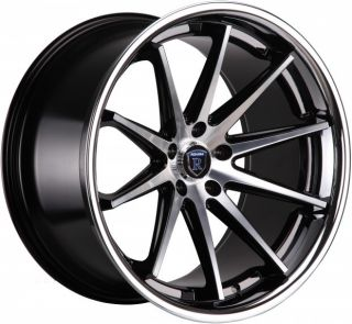 RC10 BLACK MACHINED LOW OFFSET WHEELS RIMS FIT INFINITI G35 G37 COUPE
