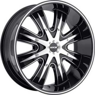20x9 5 MKW M82 Black Machined Wheels 8x180 ET20 New Rim