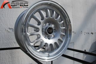 15X7 ROTA TRACK R2 4X100 +40 ROYAL SILVER WHEEL FITS CIVIC YARIS MIATA