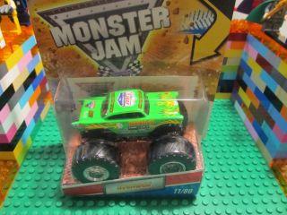 Hot Wheels Monster Truck Green Avenger 11 80 Diecast Truck w Tattoos