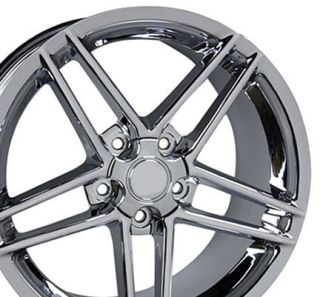 18 9.5/10.5 Chrome Corvette C6 Z06 Wheels Conti Tires Rims Fit Camaro
