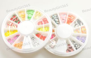 Wheel Nail Art 12 Mix Colors Colorful Clear Rhinestone Decoration