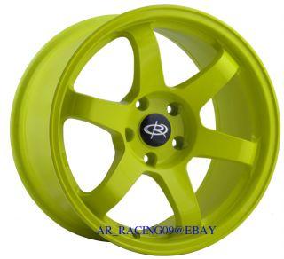 17 Rota Wheels 17x9 +12 GRID Yellow 4x114 89 90 91 92 93 240sx S13