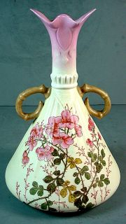 Royal Worcester Blush Ivory Bone China Vase Unmarked