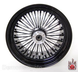 Set of Black Fat Mammoth Wheels 21x2 15 18x10 5 48 Spokes 300 Fits