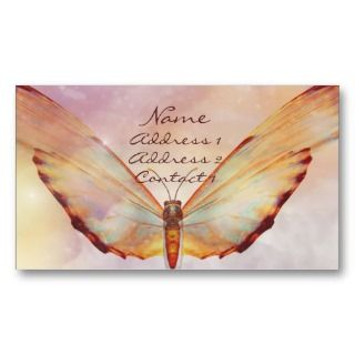 KRW Beautiful Butterfly Pastel Business Card