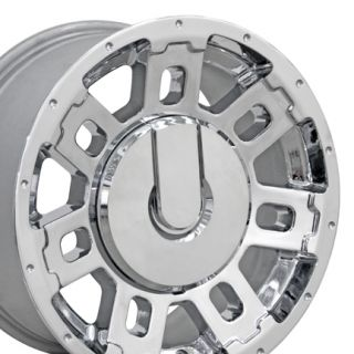 17 Hummer H2 Chrome Wheels Set of 4 Take Off Rims