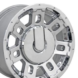 17 Hummer H2 Chrome Wheels Set of 4 Take Off Rims